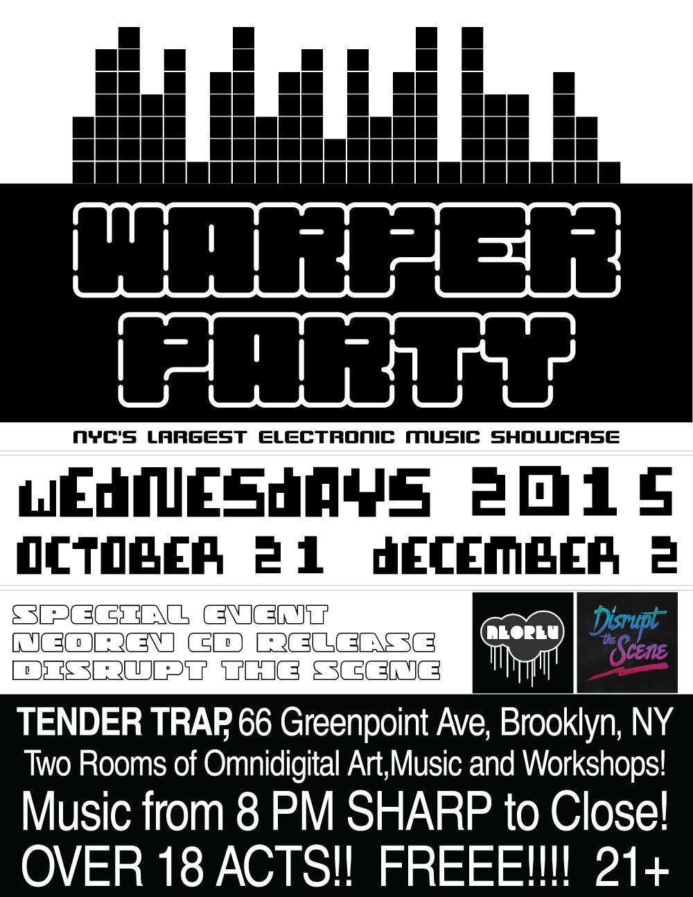 WARPER PARTY TENDER TRAP 10-21-2015