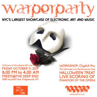 WARPER PARTY October 11th, 2018 @ The DEEP END