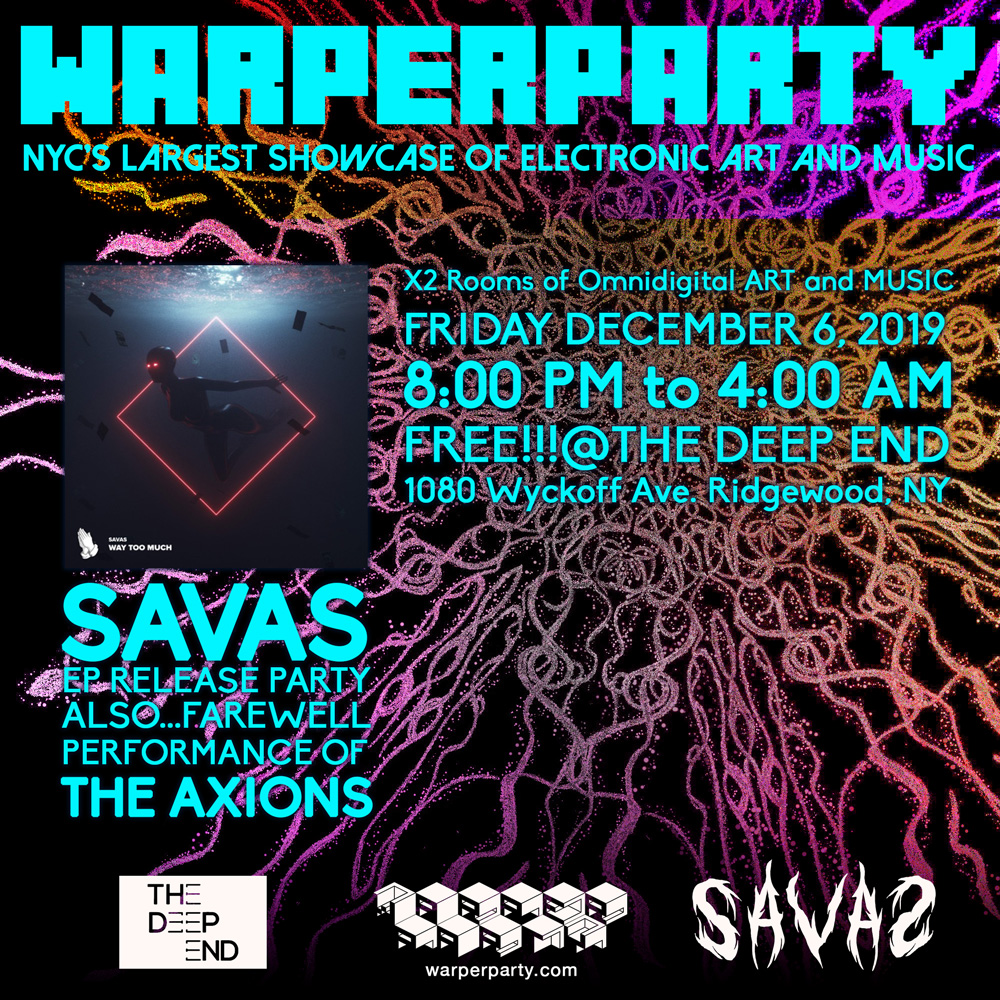 WARPER PARTY @ The DEEP END 12/06/2019